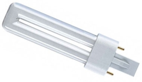 PLS Compact Fluorescent Lamp 5 watt Very Warm White 827