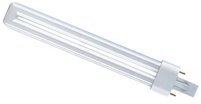 PLS Compact Fluorescent Lamp 9 watt Cool White 840