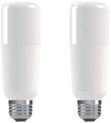 Pack of 2 GE LED BrightStik 12 Watt ES (75W Alternative - Warm White)