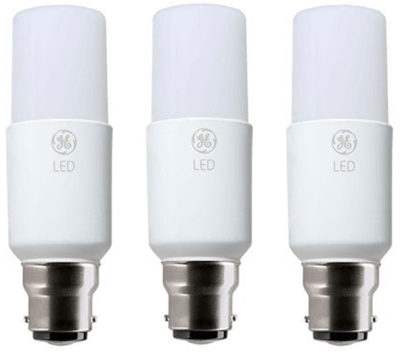 Pack of 3 GE LED BrightStik 10 Watt BC (60W Alternative - Warm White)