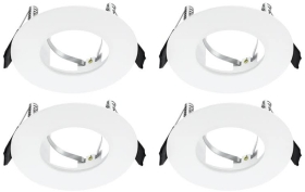 Pack of 4 Integral White Evofire Fire Rated LED Downlights IP65 With GU10 Lampholder