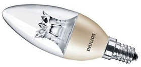 Philips Master Dimmable LED Candle 8W SES Clear Very Warm White (60 Watt Alternative)