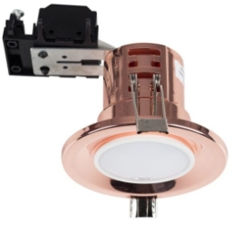 Polished Copper Fire Rated GU10 Downlight NO BULB