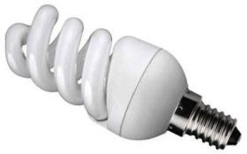 Prolite Energy Saving Mini Spiral 11W Daylight SES (60W Alternative)