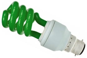 Prolite Energy Saving Spiral 15 Watt Green BC