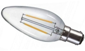 Prolite LED Filament 2 Watt SBC Candle Light Bulb Very Warm White (20 Watt Alternative)