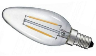 Prolite LED Filament 2 Watt SES Candle Light Bulb Very Warm White (20 Watt Alternative)