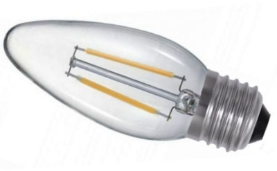 Prolite LED Filament 3 Watt ES Candle Light Bulb (35 Watt Alternative)
