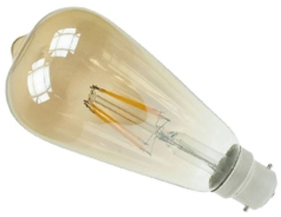 Prolite LED Filament 4 Watt BC Squirrel Cage Gold Tint Very Warm White (35 Watt Alternative)