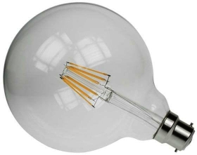 Prolite LED Filament 6 Watt BC Globe G125 Very Warm White (65 Watt Alternative)