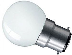 Prolite LED Golfball 1W BC Daylight (Pearl Finish - 10 Watt Alternative)