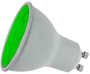 Prolite LED Non-Dimmable GU10 7 Watt Green (50 Watt Alternative)