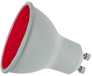 Prolite LED Non-Dimmable GU10 7 Watt Red (50 Watt Alternative)