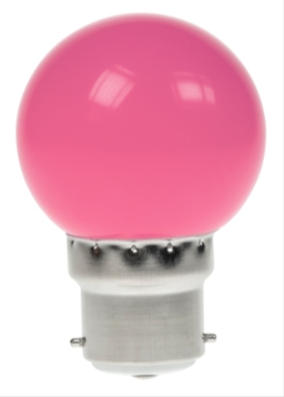 Prolite Polycarbonate 1W LED Golfball BC Pink
