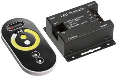 RF Touch Dimmer and Controller For CCT Adjustable LED Strip (12/24v)