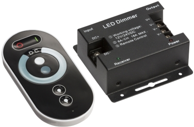 RF Touch Dimmer and Controller For Single Colour LED Strip (12/24v)