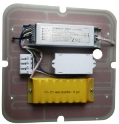 Red Arrow 15W Emergency Square LED Gear Tray with Microwave Sensor Cool White