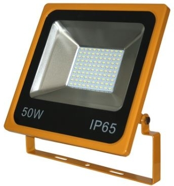Red Arrow 50W IP65 Yellow SMD LED Site Floodlight 110V Daylight