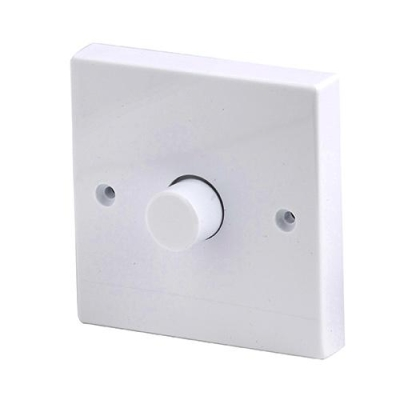 Robus 1 Gang 2 Way 250W Dimmer Switch White