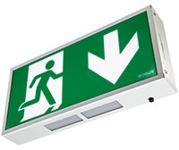 Robus Exit Box 3W White LED Maintained IP20 c/w Down Legend