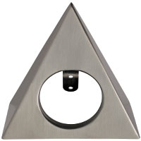 Robus Triangular Brushed Chrome Shell Accessory for Commodore Cabinet Light