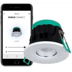 Robus 'Ultimum Connect' 7W IP65 Wifi Tunable Fire Rated White LED Downlight