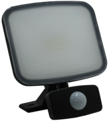 SOBRITE Flexistar 10W 700lm LED Warm White Floodlight IP65 Black with PIR Sensor