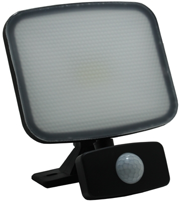 SOBRITE Flexistar 20W 1400lm LED Warm White Floodlight IP65 Black with PIR Sensor