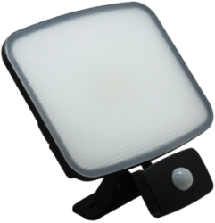 SOBRITE Flexistar 50W 4000lm LED Daylight Floodlight IP65 Black with PIR Sensor