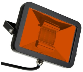 This is a 10 W Flood Light bulb that produces a Amber light which can be used in domestic and commercial applications