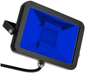 This is a 10 W Flood Light bulb that produces a Blue light which can be used in domestic and commercial applications