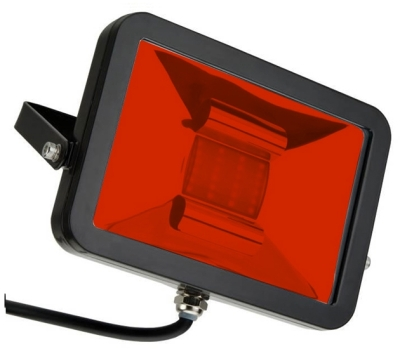 This is a 10 W Flood Light bulb that produces a Vermillion light which can be used in domestic and commercial applications