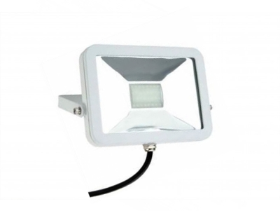 Slimline 20W LED Floodlight Warm White (160 Watt Alternative - White Finished)