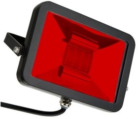 This is a 30 W Flood Light bulb that produces a Red light which can be used in domestic and commercial applications