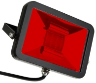This is a 50 W Flood Light bulb that produces a Red light which can be used in domestic and commercial applications