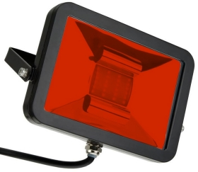 This is a 50 W Flood Light bulb that produces a Vermillion light which can be used in domestic and commercial applications