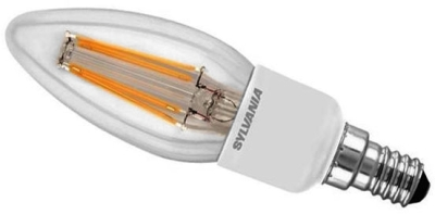 Sylvania Dimmable LED Filament 4.5W SES Candle (40 Watt Alternative) Clear