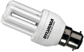 Sylvania Energy Saving Mini 11W PLEQ Lamp BC Warm White (60 Watt Alternative)