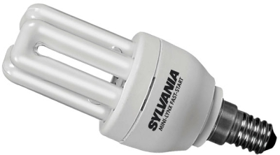 Sylvania Energy Saving Mini 11W PLEQ Lamp SES Warm White (60 Watt Alternative)