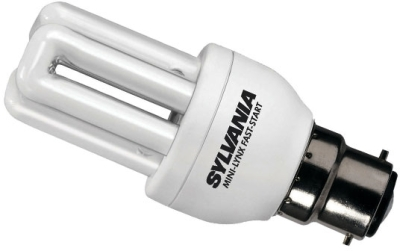 Sylvania Energy Saving Mini 8W PLEQ Lamp BC Warm White (40 Watt Alternative)