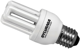 Sylvania Energy Saving Mini 8W PLEQ Lamp ES Warm White (40 Watt Alternative)