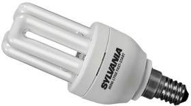 Sylvania Energy Saving Mini 9W PLEQ Lamp SES Warm White (50 Watt Alternative)