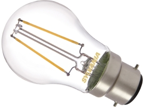 Sylvania LED Filament 2.5W BC Very Warm White Golfball (25W Alternative) Clear