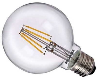 Sylvania LED Filament 5W ES Globe Very Warm White (60W Alternative) Clear Finish