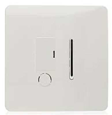 Trendi Fused Spur Switch Outlet in White