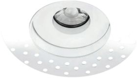 Trimless All LED 10 Watt IP65 Dimmable LED Fire Rated Downlight (White Finish - Warm White)