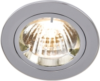 Universal Chrome Fixed Twist & Lock Downlight (GU10/MR16)