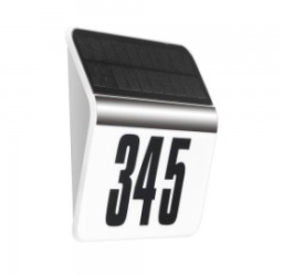 V-Tac 0.1W IP44 Solar Powered LED House Number Wall Light with Daylight Sensor Warm White