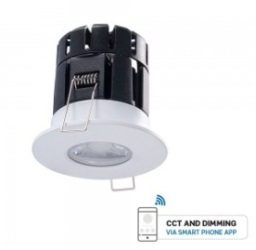 V-Tac 10W Dimmable Bluetooth Fire Rated Downlight CCT Changeable IP65