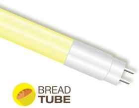 V-Tac 18W G13 T8 LED Tube Food Light for Bread Displays 1200mm Yellow (36W Equivalent)